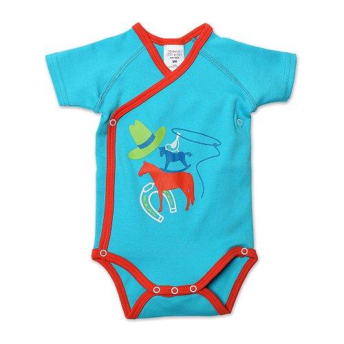 (Zutano Baby Boys Lasso Screen Short Sleeve Body Wrap, Pool, 12 Months)