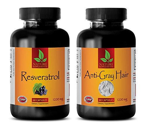 metabolism boost - RESVERATROL - GRAY HAIR - COMBO - resveratrol drink - (2 Bottles Combo)