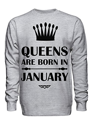 Queens Are Born In January Unisex Crew Neck Sweatshirt