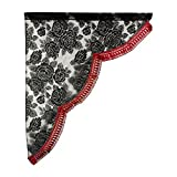 Ya side curtain rose lace side curtain L (horizontal 700mm × vertical 850mm) Frenzy: Red MSC-RA-REL