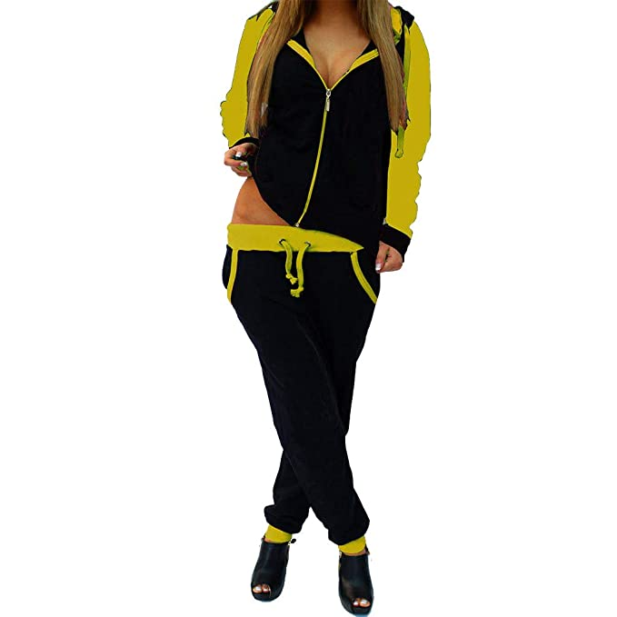 Mujeres 2Pcs CháNdal de Manga Larga Chaqueta de Abrigo + Pantalones Traje Conjunto de Pantalones Sudaderas con Capucha Camisa Pantalones Trajes de ...