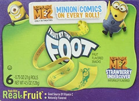 Fruit by the Foot, Strawberry Flavor, 0.75 Oz.Rolls, 6-Count Rolls (Pack of 12) by Fruit by the Foot