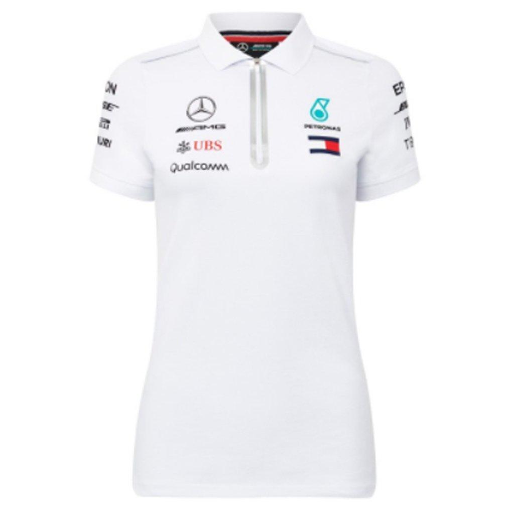 a59a117429e Mercedes AMG F1 Team Driver Puma Women's White Polo Shirt Official 2018:  Amazon.co.uk: Clothing