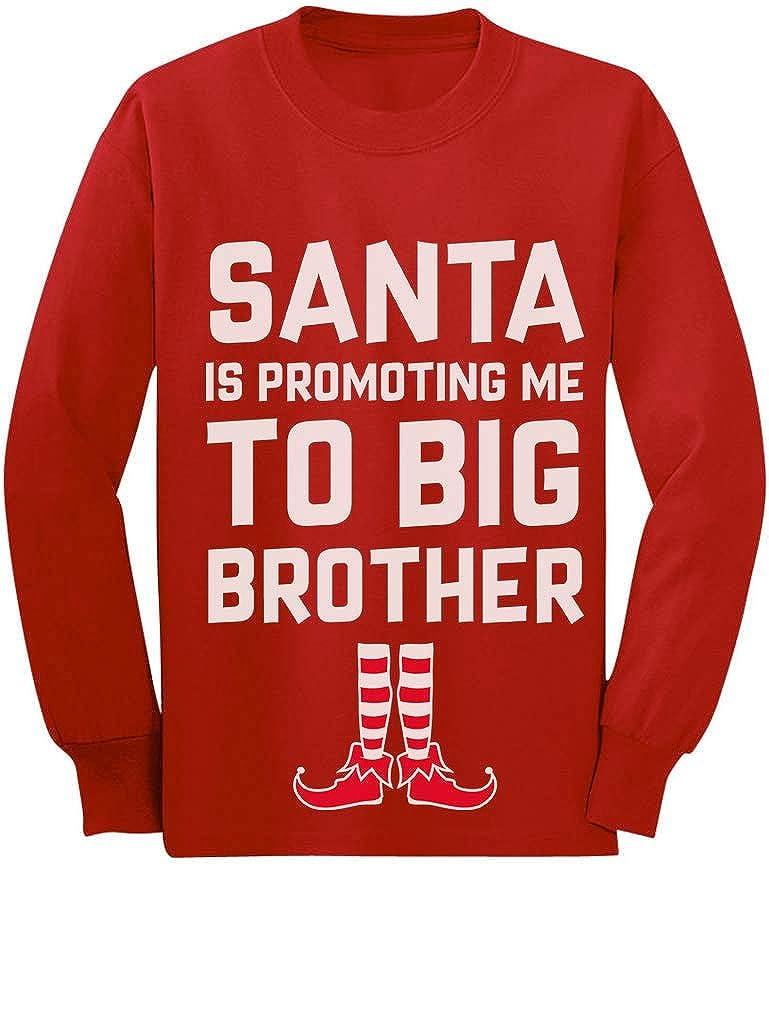 Santa is Promoting Me to Big Brother Christmas Toddler/Kids Long Sleeve T-Shirt GaMPhrZgC5