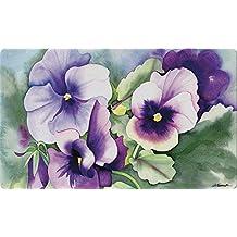 Toland Home Garden Pansy Perfection 18 x 30 Inch Decorative Floor Mat Spring Summer Flower Doormat