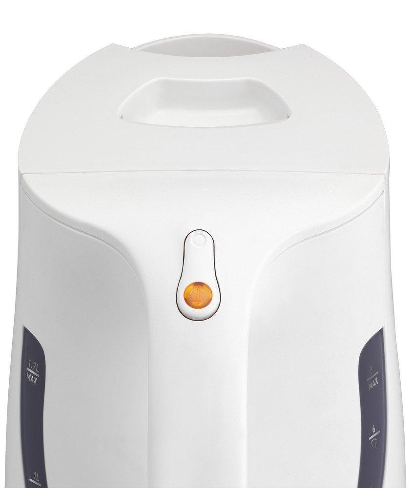 Plus 1,7L Anti-Tartre 2400W Arr/êt Automatique Caf/é Th/é Inox et Blanc Moulinex BY108110 Bouilloire /Électrique Sans Fil Principio