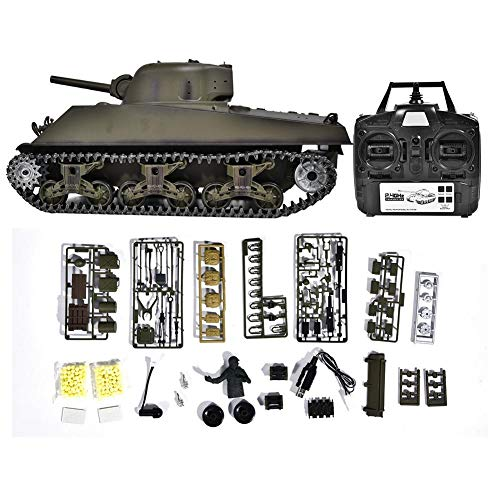 Remote Control Tank, 1:16 Scale Heavy 2.4G RC Battle Walker Tank Model with Rotating Turret & Light & Sound Effects…
