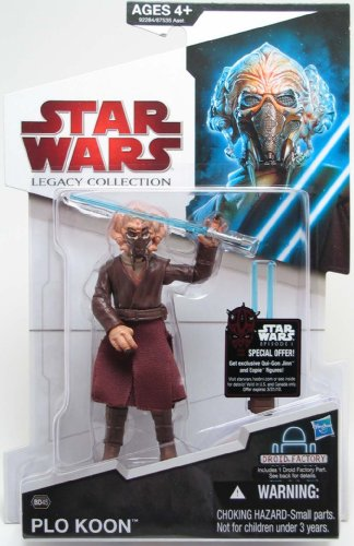 Star Wars 2009 Legacy Collection BuildADroid Action Figure Plo Koon with Removable Face - Koon Jedi Master Plo