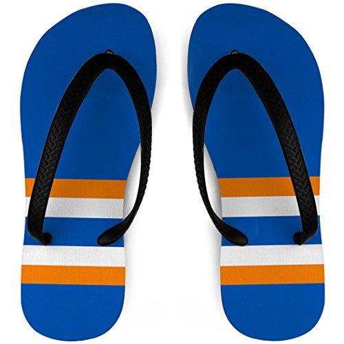 Hockey Slippers Sok Strepen Blauw / Oranje