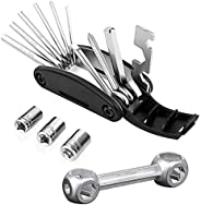 15 In 1 Multi-function Folding Bike Multitool (barrel Wrench,external Hexagon Wrench And So On) - 10 In 1 Dog