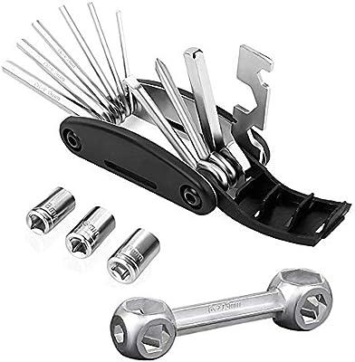 Kit de herramientas multiusos para reparación de bicicletas, 2 unidades, multiherramienta portátil para bicicleta de montaña, mini herramienta de mano para bicicleta de carretera, kit de herramientas de reparación de ciclismo: Amazon.es:
