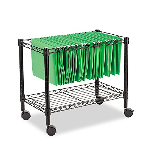 Alera ALE Single-Tier Rolling File Cart, 24w x 14d x 21h, Black