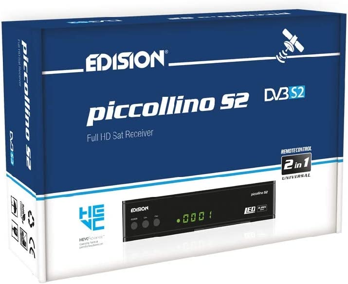 EDISION Piccollino DVB-S2 Full HD Sat Receiver H.265/HEVC lector de tarjeta USB Negro