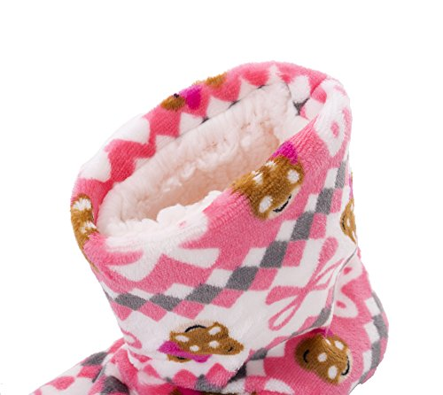 Rosa antideslizante suela botas mujeres de lana Fralosha de corto xZSwq6w8
