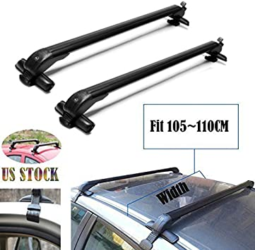 New!Universal Roof Rack Cross Bar Cargo Carrier w Anti-theft Lock System for Car