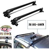2018 New Universal Car Top Luggage Cross Bars Roof Rack Lockable Anti-Theft Design - Size 105CM x 6CM x 7CM (41.3 Inch)