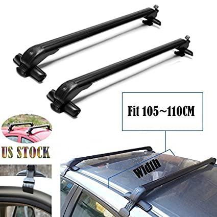 Amazon.com  2019 New Universal Car Top Luggage Cross Bars Roof Rack  Lockable Anti-Theft Design - Size 105CM x 6CM x 7CM (41.3 Inch)  Automotive b2f59b394d9a