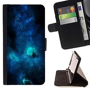 Momo Phone Case / Flip Funda de Cuero Case Cover - Azul Galaxia Vía Láctea;;;;;;;; - LG G4 Stylus H540
