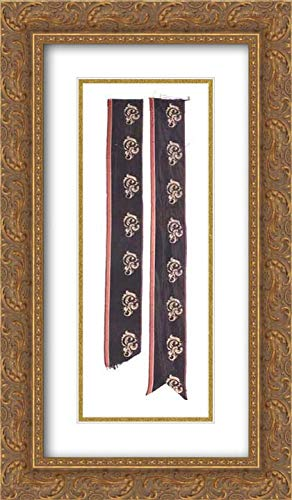 American Culture - 14x24 Gold Ornate Frame and Double Matted Museum Art Print - Mourning Poke Bonnet