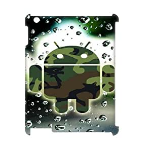 Classic Case Robot pattern design For IPad 2,3,4(3D) Phone Case