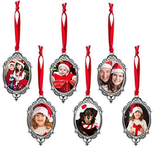 Make Your Own Old Fashioned Photo Christmas Ornaments Kit 6 Vintage Victorian Ovals