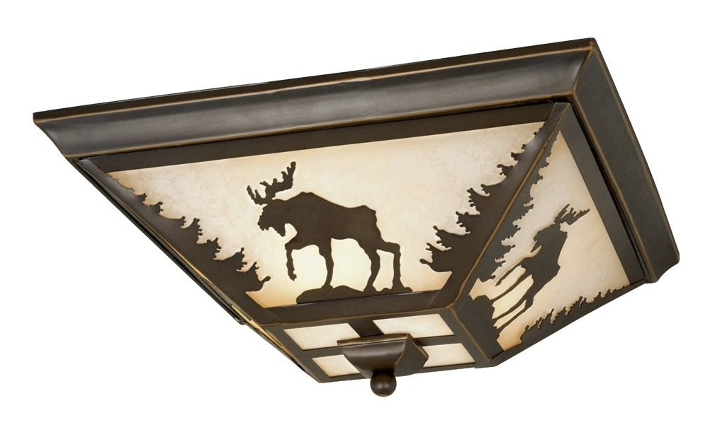 Vaxcel CC55614BBZ Yellowstone Flush Mount, 14'', Burnished Bronze Finish