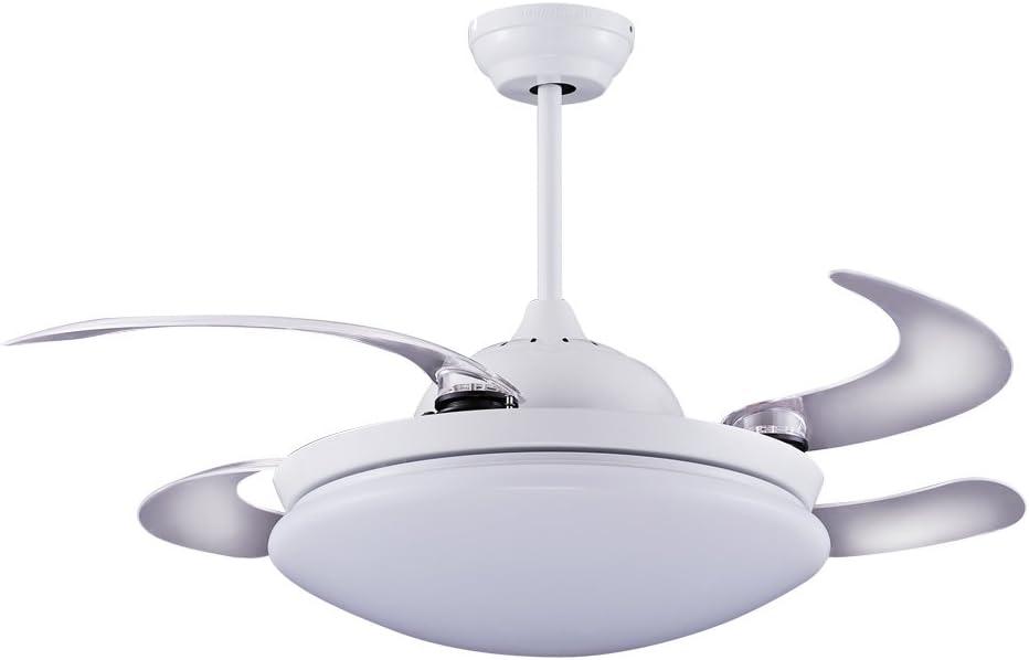 Wonderlamp Twin Ventilador de Techo, 36 W, Blanco