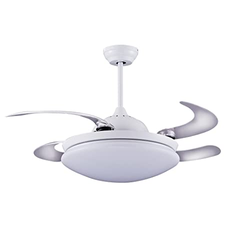 Wonderlamp Twin Ventilador de Techo, 36 W, Blanco