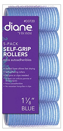 Diane Self Grip Rollers, Blue, 1 1/8 Inch, 5 Count D3720