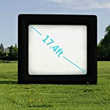 Vividy Outdoor Inflatable Movie Screen, Huge Portable Airblown Projection Screen, for a Backyard Theater Size-13.1 x 11.5ft (17.4ft diagonal) (US STOCK)