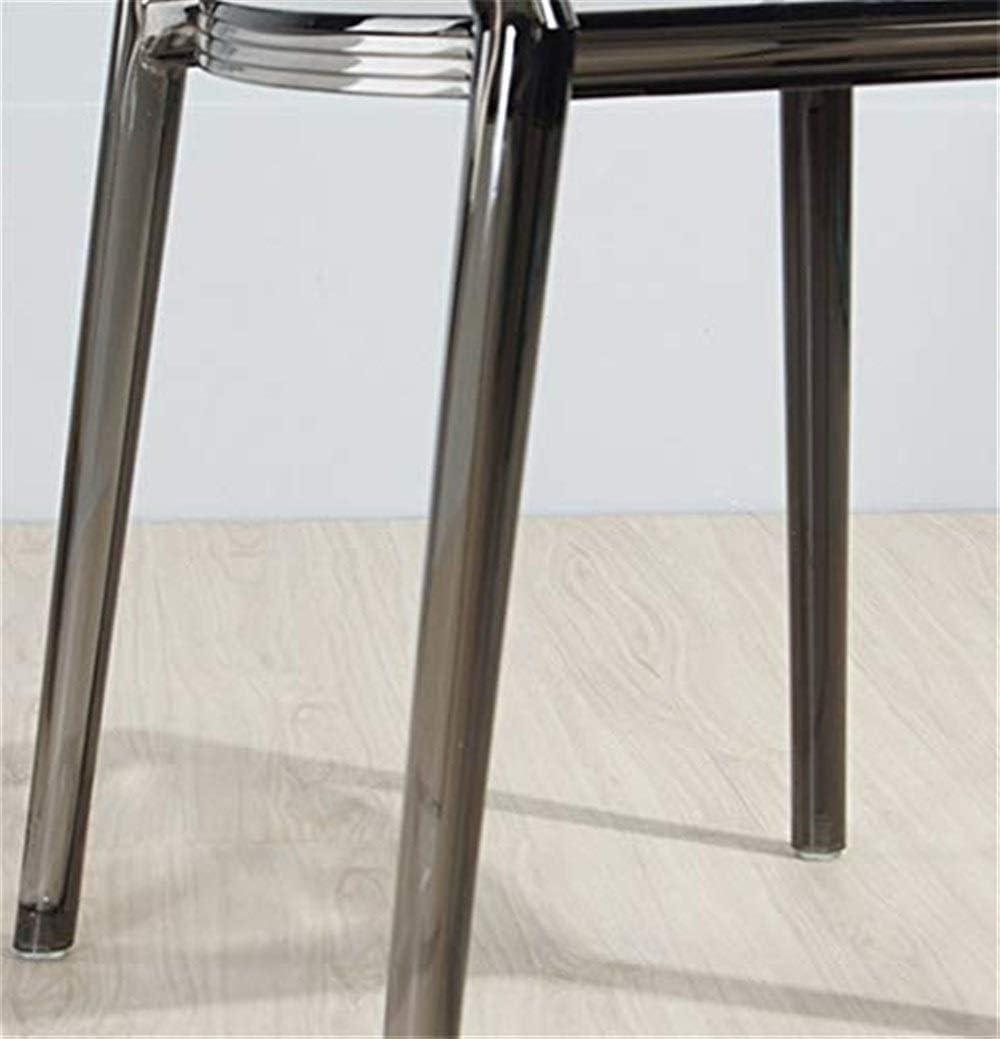 Sedia per Il Tempo Libero in PVC Attesa Sgabello Poltrona Moderna di Design CONGMING-Sedie Cucina Sedia da Pranzo Trasparente in Stile Europeo per La Casa Color : Brown