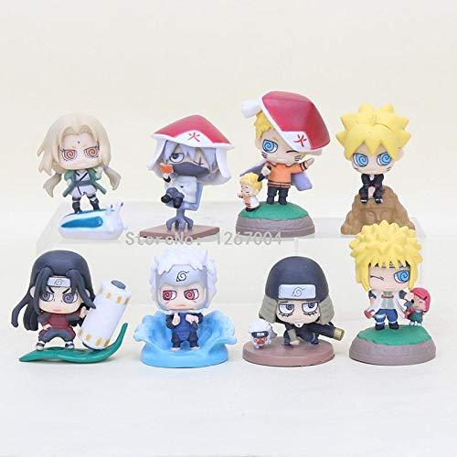 - Naruto Uzumaki Kakashi Boruto Senju Tobirama Senju 8pcs/Set 3-5cm Hashi Tsunade PVC Action Figure Toy