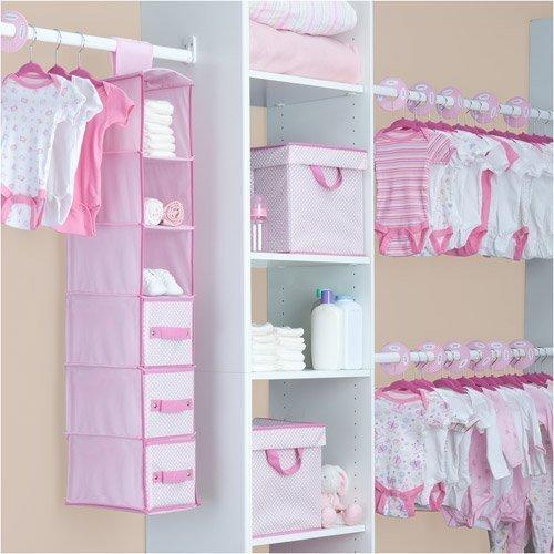 Delta - 48-Piece Nursery Storage Set, Barely Pink