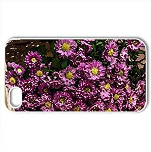 lintao diy Beautiful Flowers - Case Cover for iPhone 4 and 4s (Flowers Series, Watercolor style, White)
