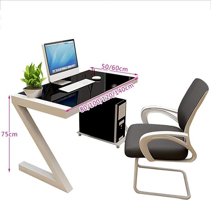 DLIBIG Computadora Escritorios Vidrio Templado Sala Oficina Mesa ...