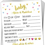 T Marie 40 Baby Shower Game Advice Cards - Baby Predictions, Words of Wisdom, and Advice for Mommy to Be - Perfect Baby Shower Ideas and Favours for Baby Girl or Baby Boy Gender Reveal Parties