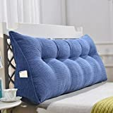 LXY Triangular Cushion Pillow Double Bed Soft Pack Bed Pillow Sofa Cushion (Color : F, Size : 180CM)