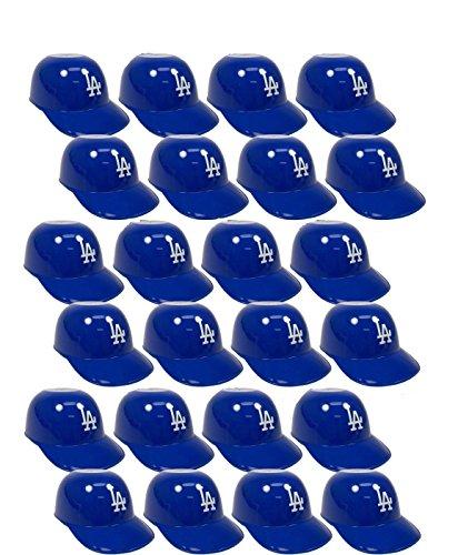 MLB Mini Batting Helmet Ice Cream Sundae/ Snack Bowls-24 Pack-LA Dodgers