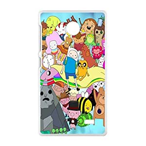 Happy Aadventure time Case Cover For Nokia Lumia X