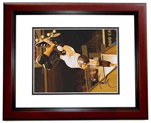 Tony Hawk Signed - Autographed Skateboarding 8x10 inch Photo MAHOGANY CUSTOM FRAME - Guaranteed to pass or JSA - PSA/DNA Certified - Skate Custom