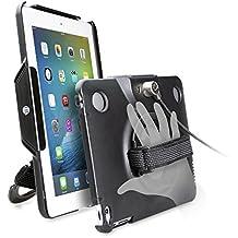 CTA Digital Anti-Theft Case with Built-In Grip Stand, iPad (2017)/iPad (2-4)/iPad Air (1-2)/iPad Pro 9.7 (PAD-ACG)