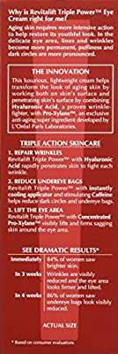 Anti-Aging Eye Cream with Hyaluronic Acid by L'Oreal Paris, Revitalift Triple Power Under Eye Treatment, 0.5 oz