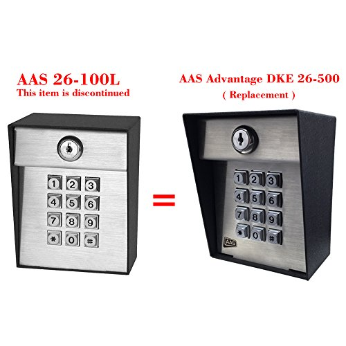 AAS 26-100L Advantage DKE Post Mount Digital Keypad 100 Code Capacity