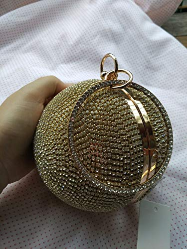 Handbag JUZHIJIA Crosses Banquet Hand Drill Chain Banquet Famous Bag Held Ball 16cm The Bag The Female Yuan The gRrrxEW