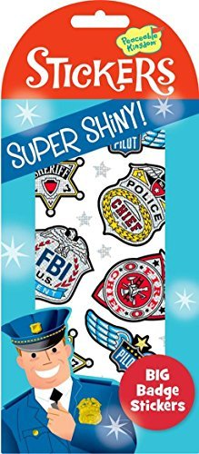 Sticker Badges - Peaceable Kingdom Press Super Shiny! Foil Big Badge Sticker Pack