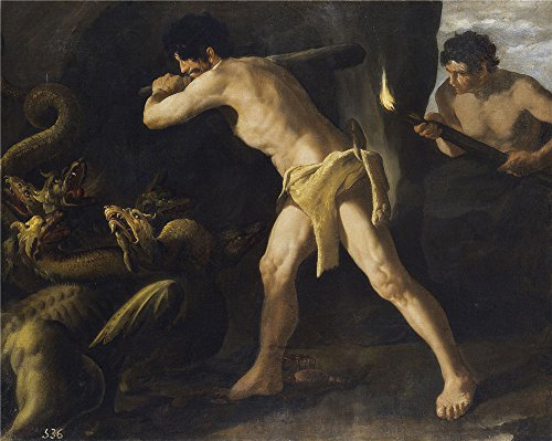 The High Quality Polyster Canvas Of Oil Painting 'Zurbaran Francisco De Lucha De Hercules Con La Hidra De Lerna 1634 ' ,size: 10 X 13 Inch / 25 X 32 Cm ,this Reproductions Art Decorative Prints On Canvas Is Fit For Gift For Bf And Gf And Home Gallery Art And Gifts