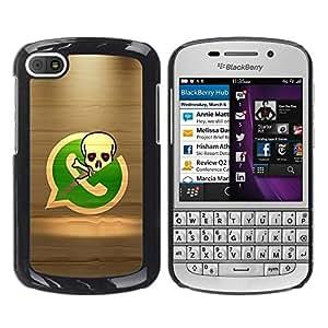 LECELL -- Funda protectora / Cubierta / Piel For BlackBerry Q10 -- Pirate Skeleton Phone --