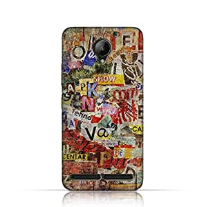 Lenovo C2 TPU Silicone Case with Old Torn News Paper Grunge Textured Design.