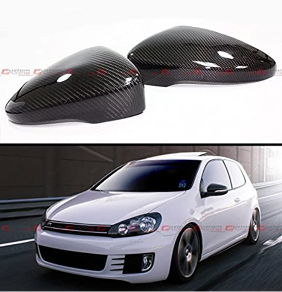 Amazon Com Cuztom Tuning 1 1 Direct Replacement Real Carbon Fiber Side Mirror Cover Fits For 2010 2014 Golf 6 Mk6 Gti R Vi Automotive