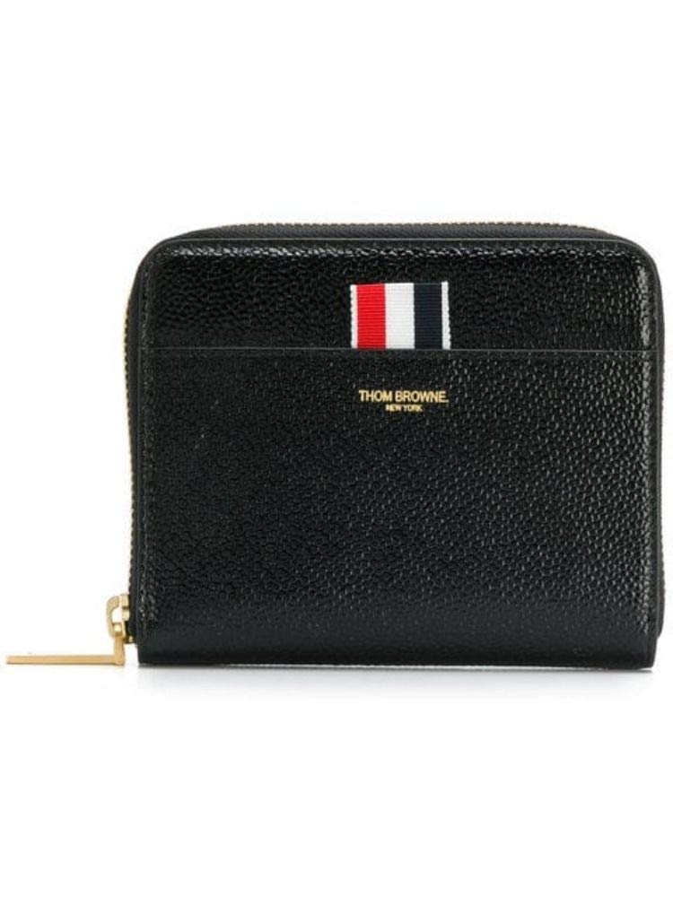 Thom Browne Women's FAW013A03542001 Black Leather Wallet